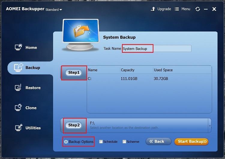 NAS system backup