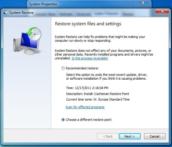 Windows 7-Registry sichern