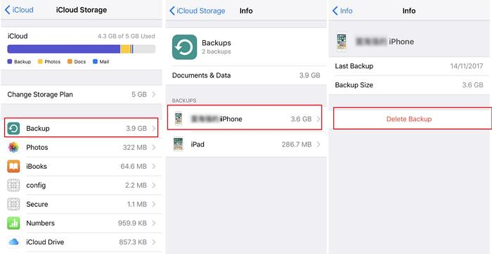 Delete last backups