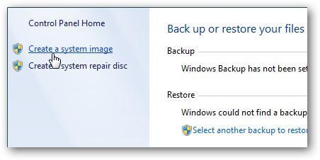 Windows 7 Backup and Restore