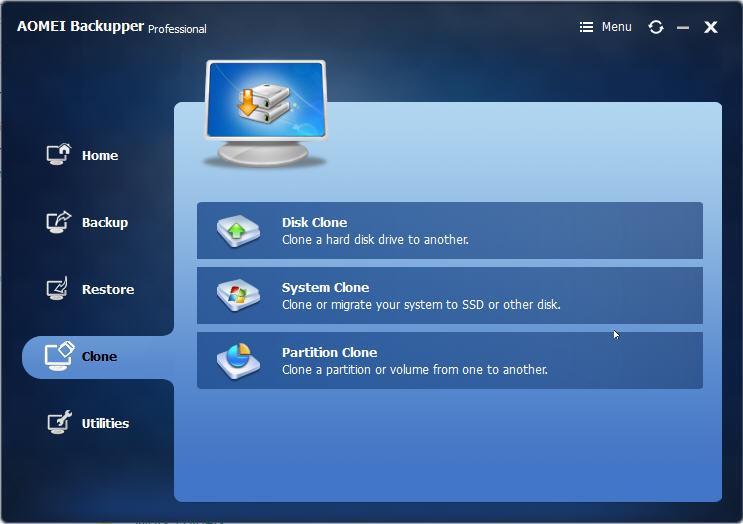 AOMEI Backupper: Flexibility