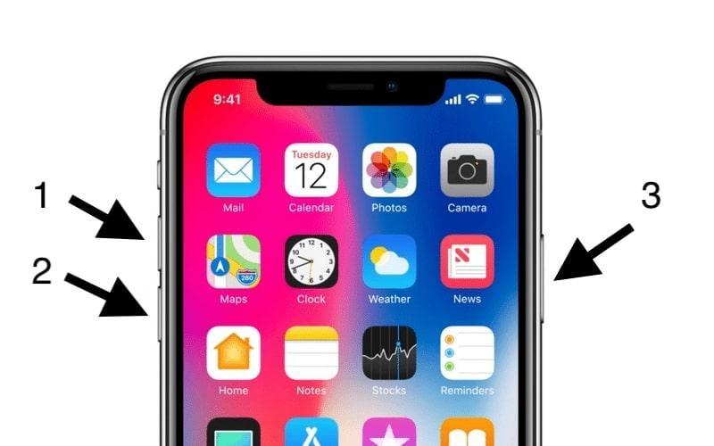 Restart iPhone 8