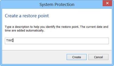 Windows 10-Wiederherstellungspunkt
