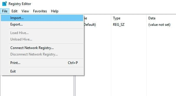 Registry unter Windows wiederherstellen