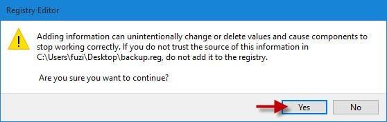 Registry wiederherstellen