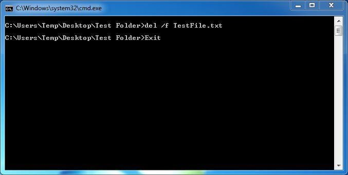 Use Command Prompt to Delete a File in Use in Windows