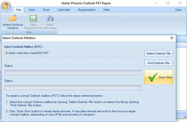 recover permanently deleted email from PST files step 4