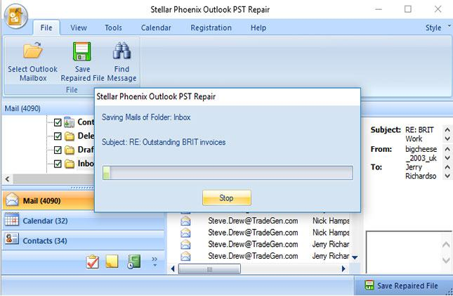 recover permanently deleted email from PST files step 7