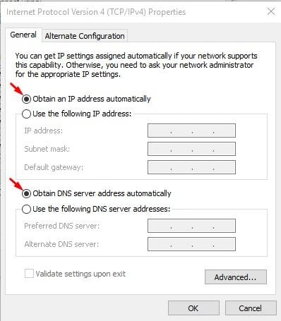 enable and disable DHCP
