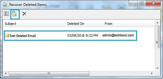 recover deleted email in outlook step 3