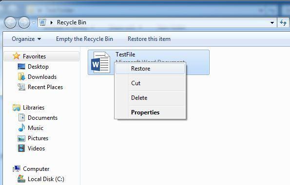 Restaurar archivos eliminados