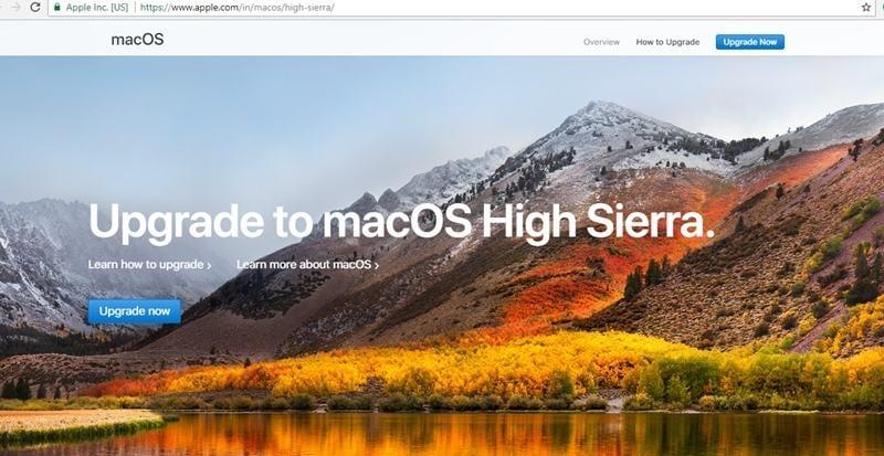 actualizar mac a high sierra