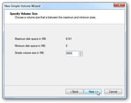 create virtual hard drive step 8