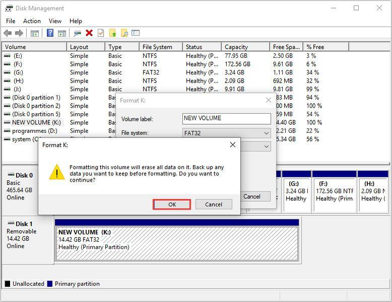 disk management to erase