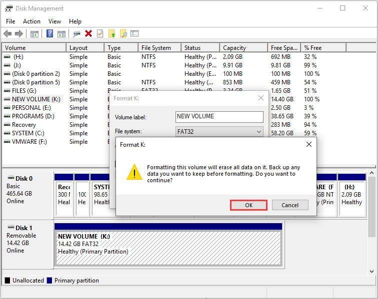 format sd card disk management 3