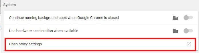 open proxy settings chrome windows