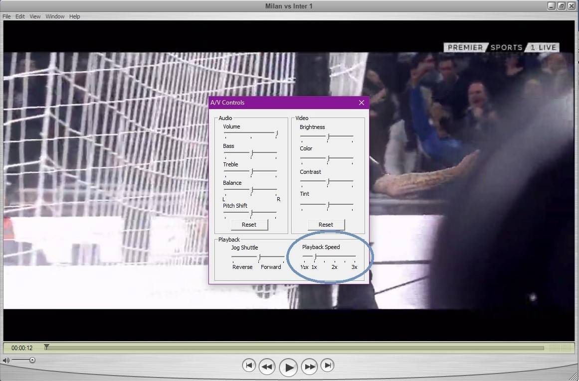 quicktime select playback speed