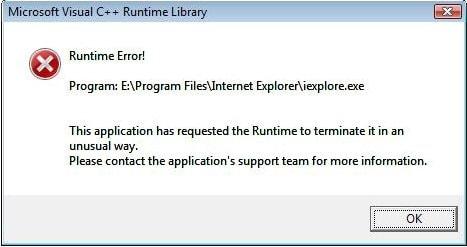 error de tiempo de ejecución de windows