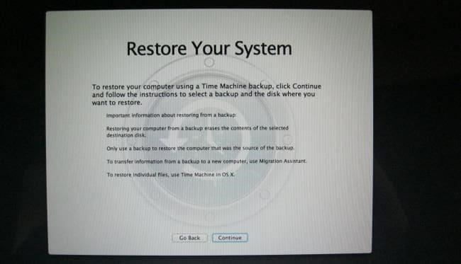 Mrécupération de Mac Mode 02