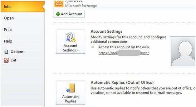 Configurar respuesta fuera de la oficina en Outlook 2014