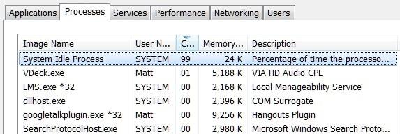 Soluciona el problema: El Proceso Inactivo de Sistema de Windows está activo