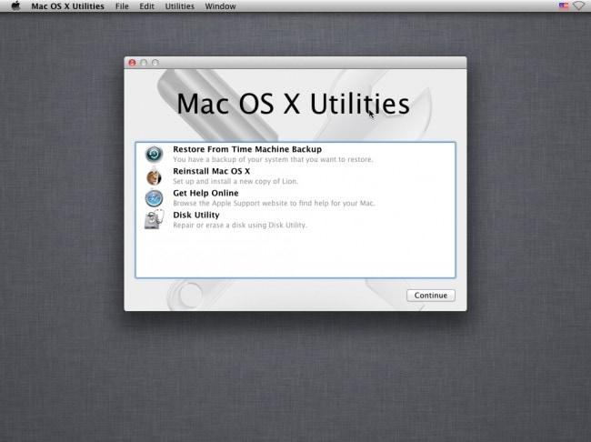 réinstaller MAC OS X
