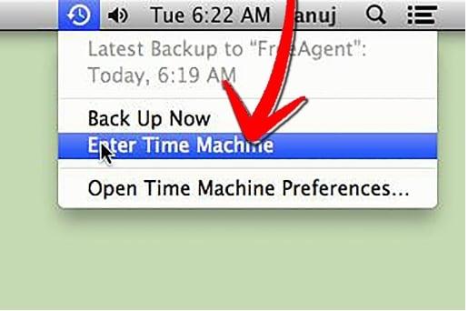 récupérer l'historique Internet supprimé sur Mac avec Time Machine - étape 2