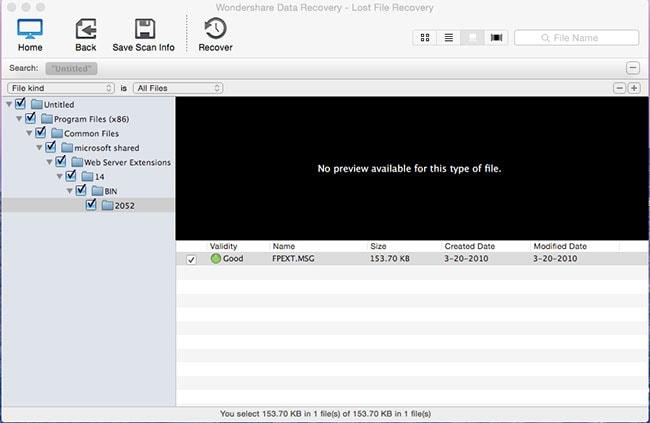 recuperare formattato jpg/png/gif file passaggio 3