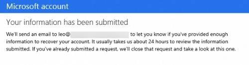 récupérer un mot de passe hotmail