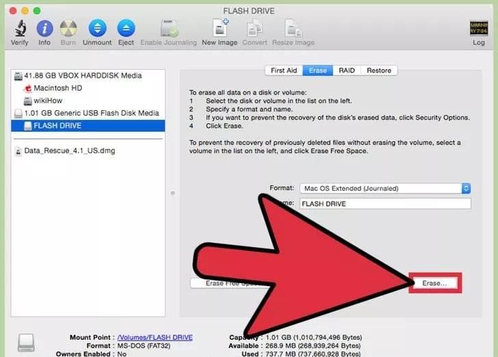 formatar pen drive para Mac