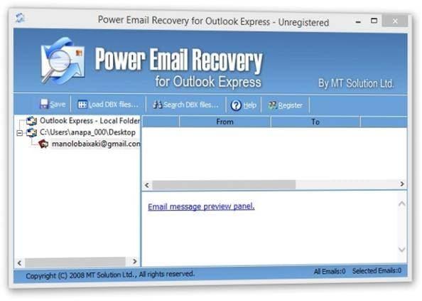 software de recuperación de email 05