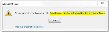 excel file unexpected error