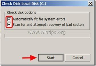 résoudre les problèmes du disque dur avec chkdsk - étape 4