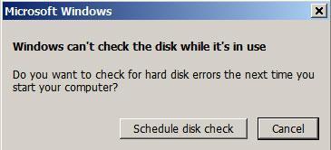 résoudre les problèmes du disque dur avec chkdsk - étape 5