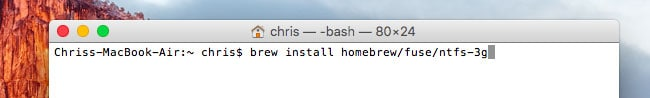 écrire sur disque NTFS sur mac - étape 3