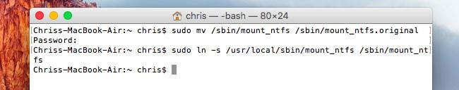 écrire sur disque NTFS sur mac - étape 5