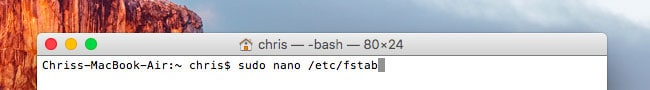 écrire sur disque NTFS sur mac - étape 6