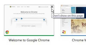 chrome most visited