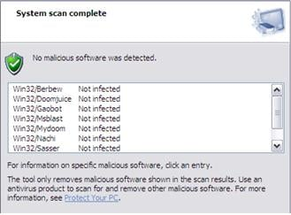 report to delete malwares and viruses from your computer