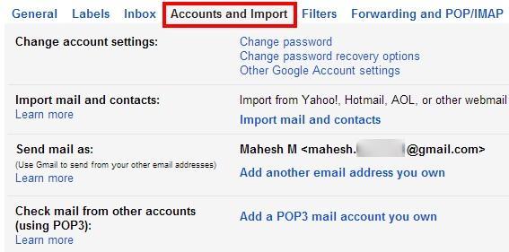 Restablecer Cuenta de Gmail
