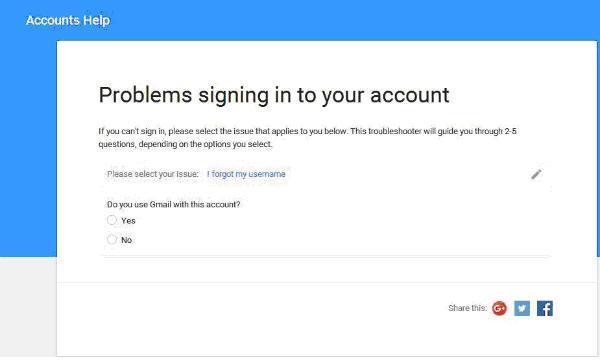 Recuperar cuenta de gmail