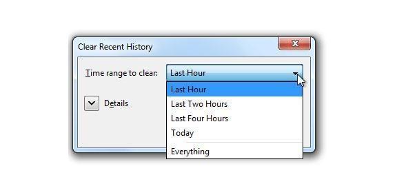 elimina el historial de busqueda de Firefox