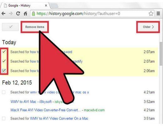 elimina listados de busquedas de google de forma automática