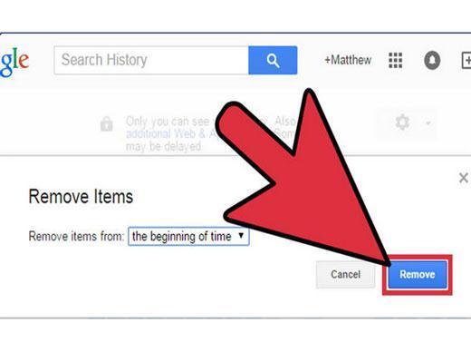 elimina listados de busquedas de google