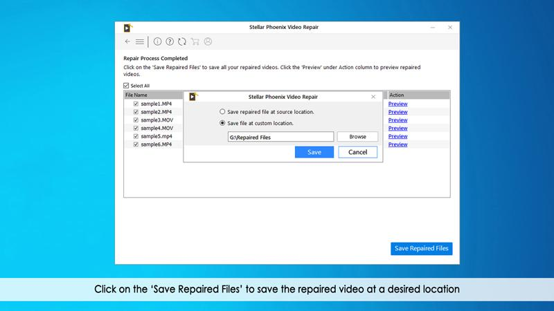 save repaired video files