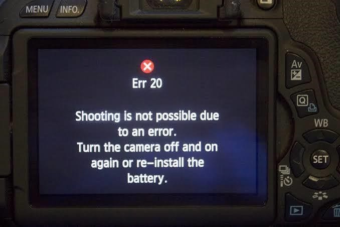 Erreur 20 de Canon