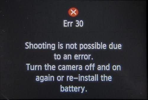 Canon Error 30