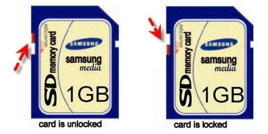 Canon Camera memory card error