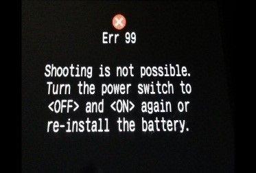 Erreur 99 de Canon