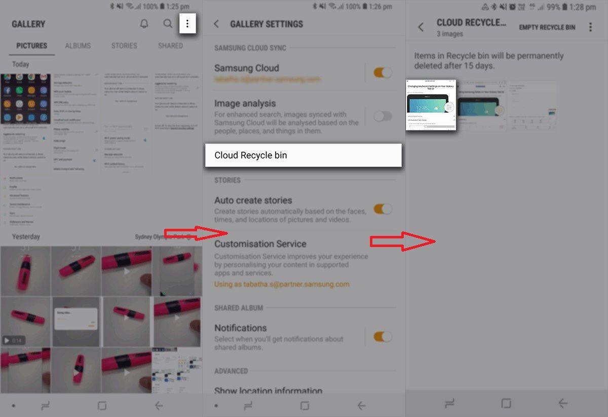 récupération de photos Samsung à partir de Samsung iCloud